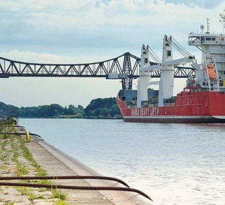 Hochbrücke Rendsburg über den Nord Ostsee Kanal