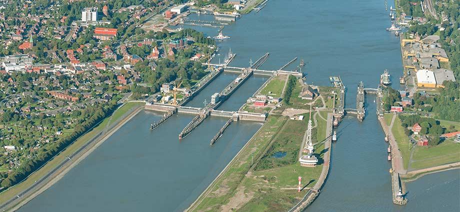 Schleusen am Nord-Ostsee-Kanal