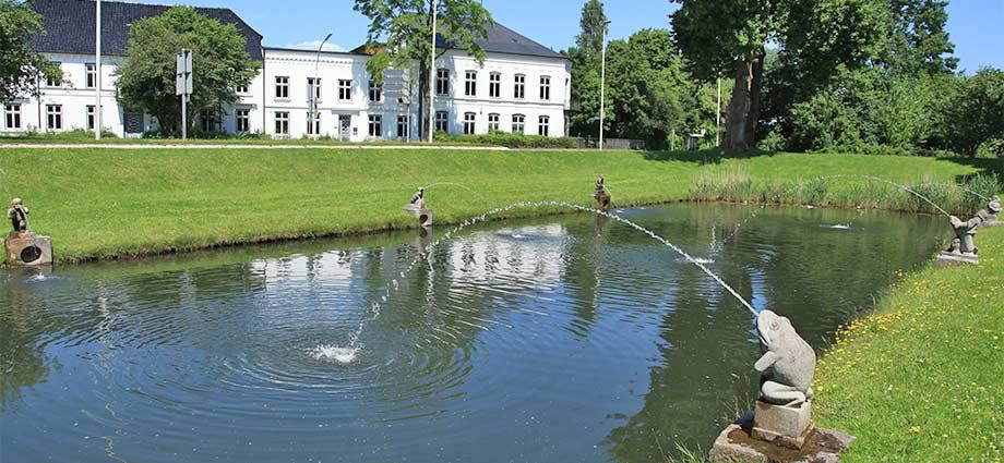 Die Schleusenbecken des ehemaligen Eiderkanals in Rendsburg